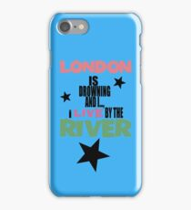 I live by the river (blue star edition) iPhone Case/Skin