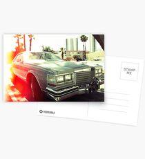 American vintage car in Kodachrome Postcards