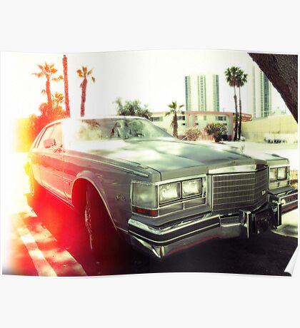 American vintage car in Kodachrome Poster