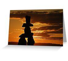 Inukshuk Sunset Greeting Card
