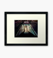 Paris Metro Entrance at night Framed Print