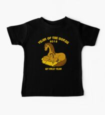 Born Year of The Horse 2014 Baby Tee