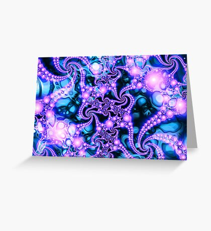 Falling Within  (cool) - Psychedelic Fractal Abstract Greeting Card
