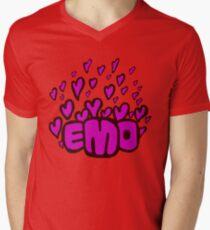 Emo hearts Men's V-Neck T-Shirt
