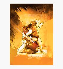 Brazilian Jiu Jitsu Triangle Submission Poster Photographic Print