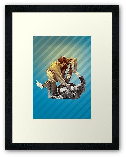 Jiu Jitsu Spider Guard Poster by Willy Karl Beecher