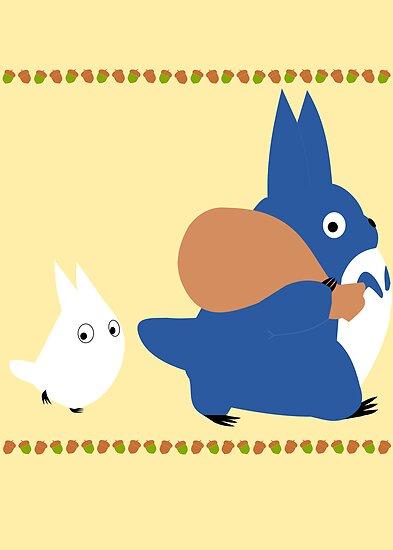 chuu and chibi totoro by rcdbstp21