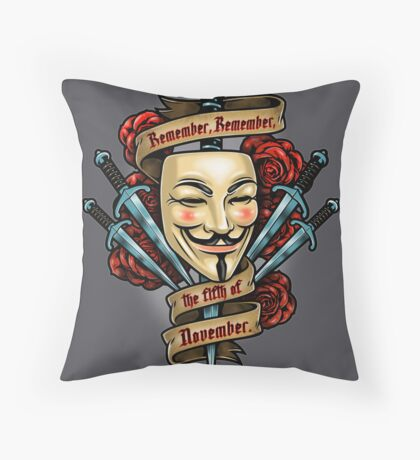Fifth of November Throw Pillow