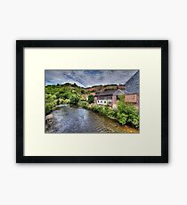 """""""La Vesdre"""" River in Trooz, Belgium Framed Print"""