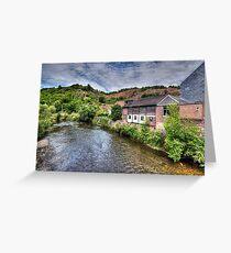 """La Vesdre"" River in Trooz, Belgium Greeting Card"