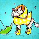Chihuahua Rainy Day Fun by offleashart