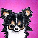 Plum Cute Tricolor Chihuahua by offleashart