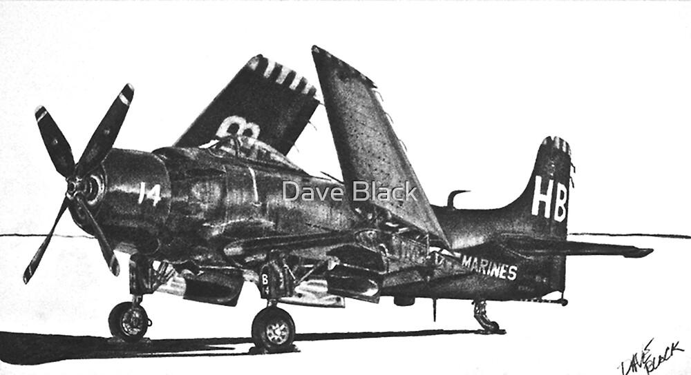 Douglas AD-4 Skyraider  by Dave Black