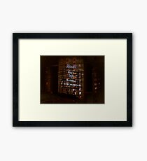 Broadway theatre signage, billboard at night Framed Print