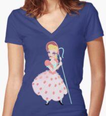 Bo Peep  Women's Fitted V-Neck T-Shirt