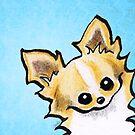 Long Haired Chihuahua Peek-a-boo by offleashart