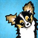Tricolor Chihuahua in Blue by offleashart
