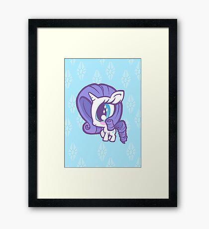 Weeny My Little Pony- Rarity Framed Print