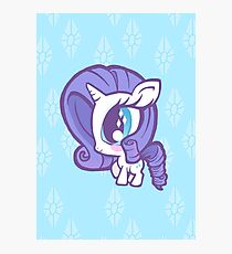 Weeny My Little Pony- Rarity Photographic Print