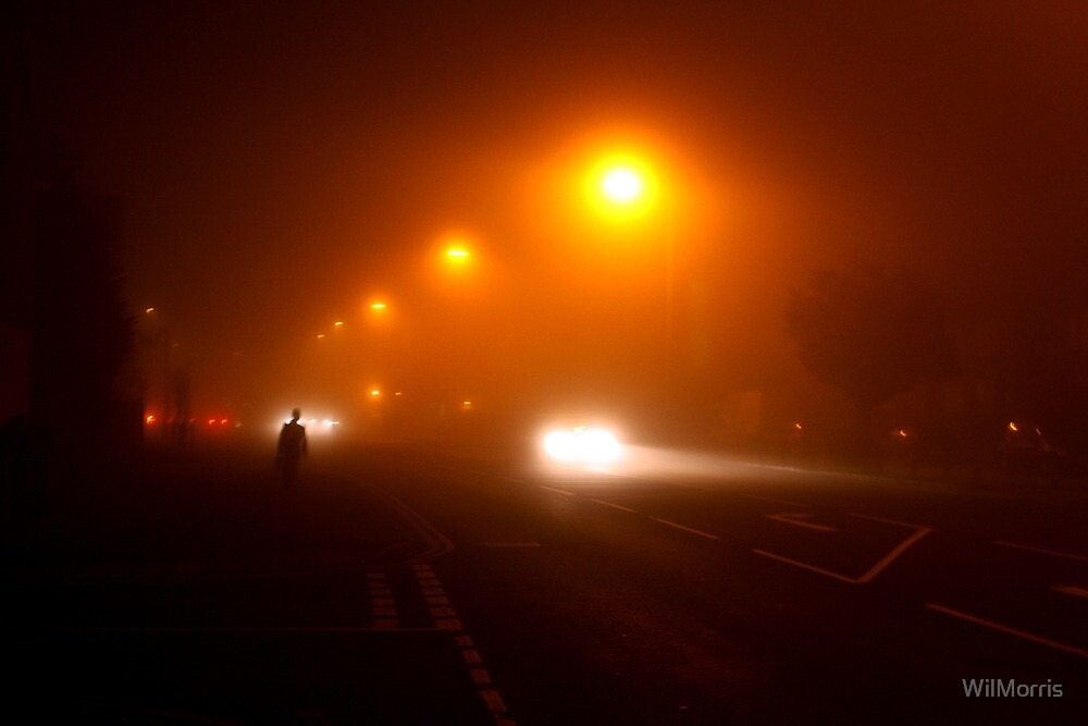 Man In The Night-time Fog by WilMorris
