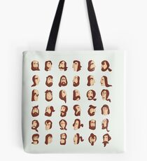 ARMENIAN BEARD ALPHABET ILLUSTRATIVE TYPOGRAPHY Tote Bag