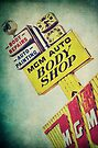 MGM Auto Body Shop Vintage Sign by Honey Malek