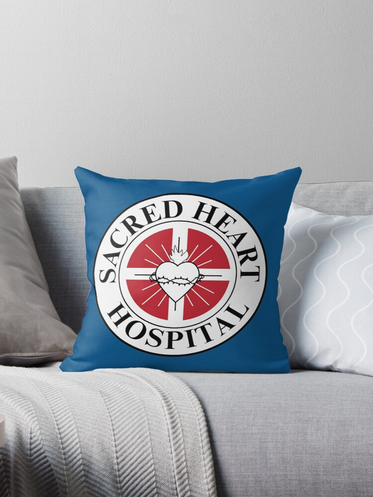 Sacred Heart Hospital Scrubs Throw Pillow By Huckblade Redbubble