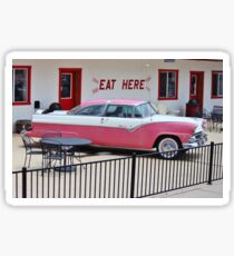 Vintage Pink Car Sticker