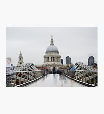 St Paul's Cathedral, London from the Millennium Bridge Photographic Print