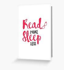 Read/Sleep 2 Greeting Card
