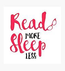 Read/Sleep 2 Photographic Print