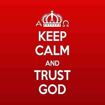 Religious Christian iPhone 6s Case Cover Keep Calm And Trust God Red by lanawynne