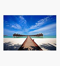 Idyllic Symmetry. Water Villas. Maldives Photographic Print
