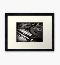 Old magnetophone in black and white Framed Print
