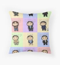 Team Everyone Richard Armitage Characters  - Without Text Throw Pillow