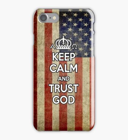 Religious Christian iPhone 6  Case Cover American Flag iPhone Case/Skin