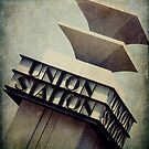 Art Deco Union Station Neon Sign by Honey Malek