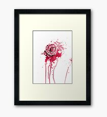 Blood Rose (White) Framed Print