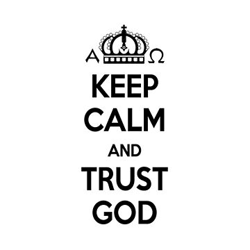 Religious Christian iPhone 6s Case Cover Keep Calm And Trust God White by lanawynne