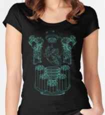 Robot X-Ray Design Women's Fitted Scoop T-Shirt