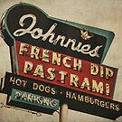 Johnnie's French Dip Vintage/Retro Sign by Honey Malek