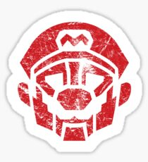 Mariobots... ROLL OUT! (animated version, distressed) Sticker