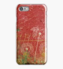 Dandelions Take Wind Against Pink Sky Abstract iPhone Case/Skin