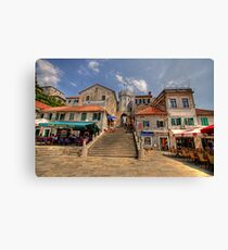 Central Town Square Herzig Novi, Montenegro Leinwanddruck
