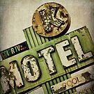 Circle K Motel Vintage Sign by Honey Malek