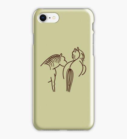 Two Horses (dark brown) VRS2 iPhone Case/Skin