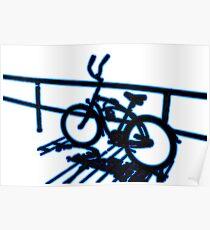 Boardwalk Bicycle Blue Poster