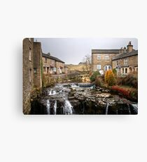 The River Ure at Hawes Canvas Print