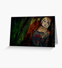 Sum Angle Gothic Portrait Greeting Card