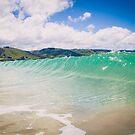 Blue Green Wave in Apollo Bay, Australia by jamjarphotos